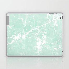 Modern vintage mint white elegant marble Laptop & iPad Skin