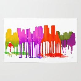 Tampa, Florida Skyline - Puddles Rug