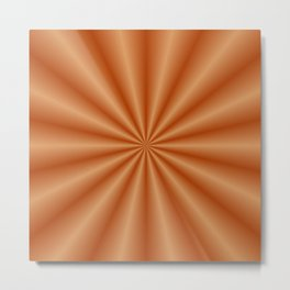 Orange Pleats Metal Print