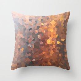 Amber Moon Lights Throw Pillow