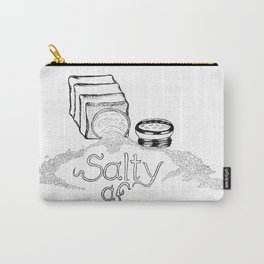 Salty AF - This Salt Shaker is Wide Open - Comic Carry-All Pouch