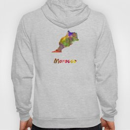 Morocco in watercolor Hoody