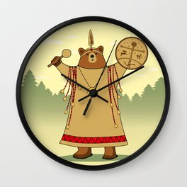 Bear Shaman Wall Clock