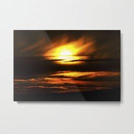 Fiery Sunset Metal Print