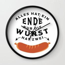 German Sausage Oktoberfest Wall Clock