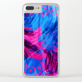 Going for an Abstract Swim Clear iPhone Case