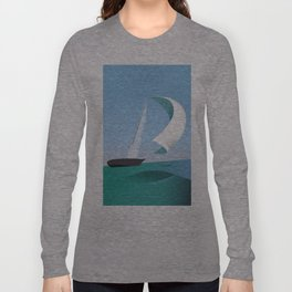 Yacht Sailing Poster Long Sleeve T-shirt