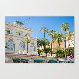 Casino Sanremo Canvas Print
