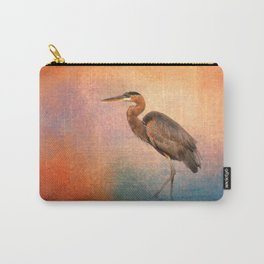 Sunset Heron Carry-All Pouch