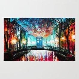 Tardis With Beautiful Starry Night Rug