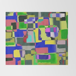 Raw Paint 3 - Colour Abstract Throw Blanket