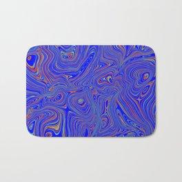 Blue Oil spill Bath Mat