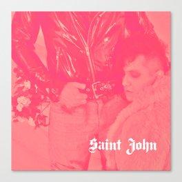 Saint John Delicate Self-Harm Canvas Print