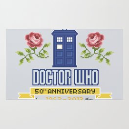 Doctor Who 50th Anniversary Parody Rug