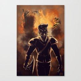Duke Daring: Real Men Don't Look at Explosions Canvas Print
