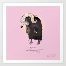 Triste dyr: Morskus Art Print
