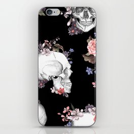 Day Of The Dead Floral Skulls iPhone Skin