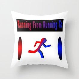The Runner's Spectrum Throw Pillow