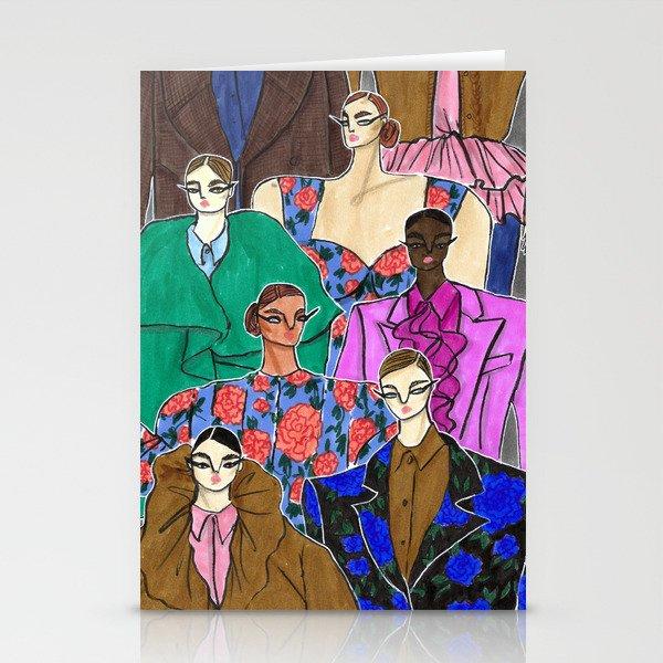 Delpozo Girls in Fall 2019 – Original Fashion art, Fashion Illustration, Fashion wall art Stationery Cards