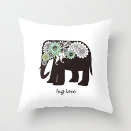 Paisley Elephant - Big Love Throw Pillow