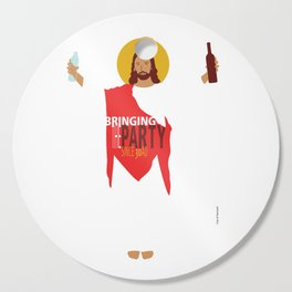 Party Jesus Turns Water Into Wine Cutting Board