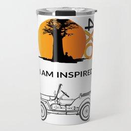 I AM INSPIRED JEEP CJ Travel Mug