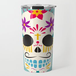 Dios De Los Muertos Day of the Dead Sugar Skull Fiesta Travel Mug