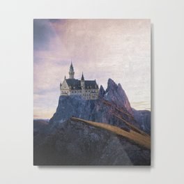 The Castle on the Hill Metal Print