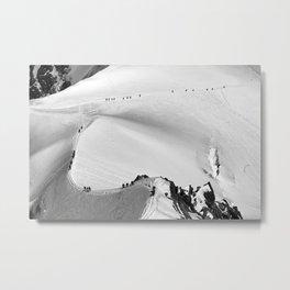 Team of mountaineers Metal Print