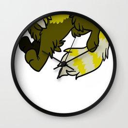 Yellow Panda Wall Clock
