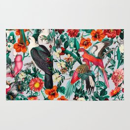 FLORAL AND BIRDS XIV Rug