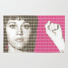 Jane Fonda Mug Shot - Pink Rug