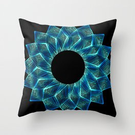 Inverted Threaded Lotus Throw Pillow