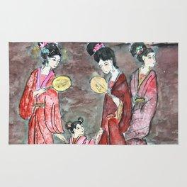 Four ancient Oriental beauties Rug
