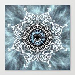 Heart Of The Moon Mandala Canvas Print