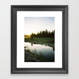 Sunset near Dillon Falls Framed Art Print