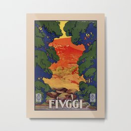 Vintage Italian travel Fiuggi springs Metal Print