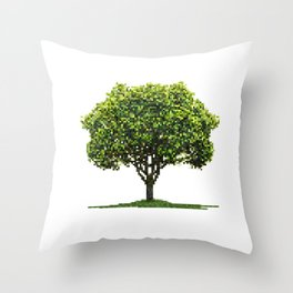 Pixel tree Throw Pillow
