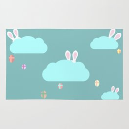 Easter town Rug