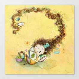 Greña ~ Crazy Hair Orange Canvas Print