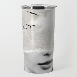 minimal collage /silence Travel Mug