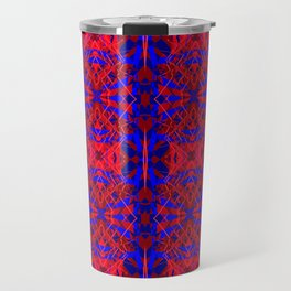 Red and Blue Fracture Travel Mug