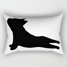 French Bulldog. Puppy Silhouette. Yoga Puppy Rectangular Pillow