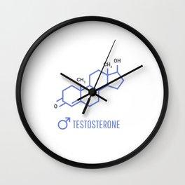 Sex hormones molecular formula. Testosterone Hormones symbol. Wall Clock