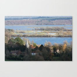 Close to the Floods Canvas Print