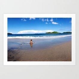 Baby enjoying Costa Rica Art Print