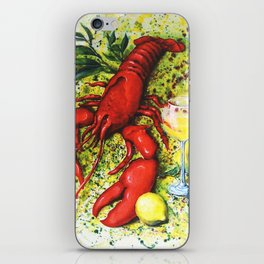 Lobster and Wine iPhone Skin