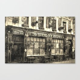 The Sherlock Holmes pub Vintage Canvas Print