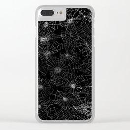 cobwebs Clear iPhone Case