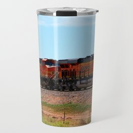 Orange BNSF Engines Travel Mug